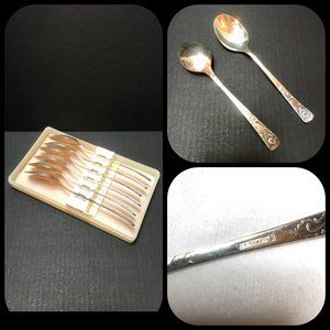 Auc Silver Plated Melchior USSR dinner 6 spoons